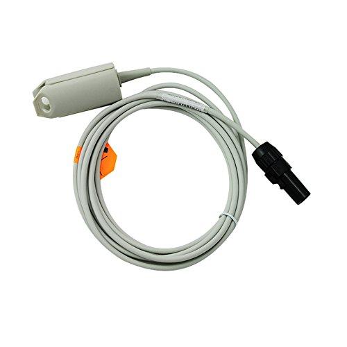 x Reusable Adult Finger Sensor Clip SpO2 Sensor Compatible 505/510/511 (Gray) (Novametrix Pulse Oximeter)
