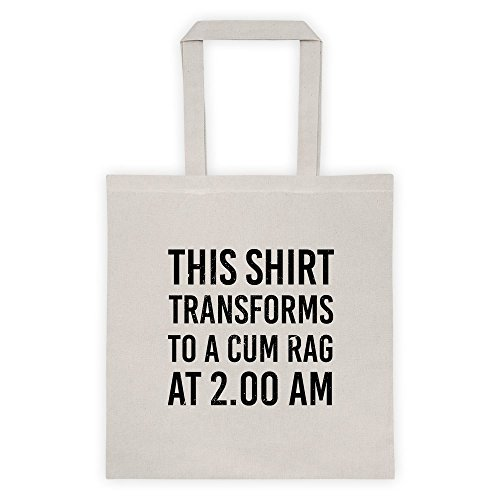 This Shirt Transforms To A Cum Rage At 2 Pm Gamer Geek Cool Funny Message Outdoor Humor Grocery Shopping Pink Tote Bag ()