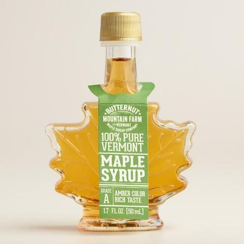 Mini Maple Leaf Syrup Bottle, Set of 6(1.7 (Maple Leaf Bottle)