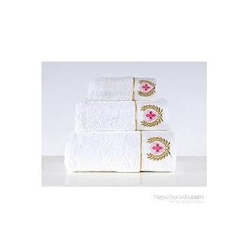 Serra Home Hotel & - Toallas de bordado blanco del ejército Spa 85 150 algodón turco