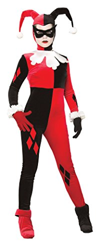 Superheroes And Villain Costumes (Rubie's Dc Heroes and Villains Collection Harley Quinn, Multicolored, Medium)