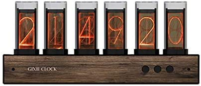 JINGz Nixie Tube Clock Gixie Clock Creative Digital Variable Color Clock LED Digital Clock Steins Gate Divergence Meter Christmas New Year Birthday Valentine s Day School Gift