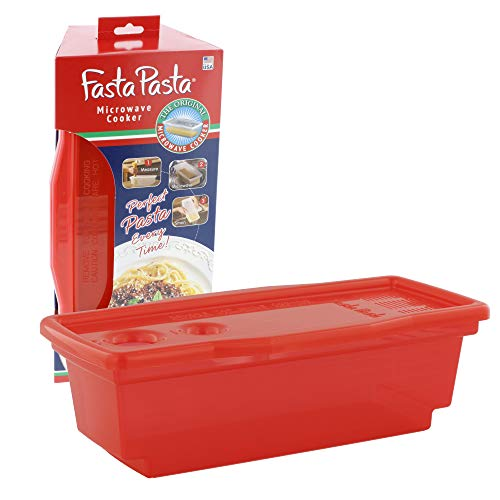 Pasta Boat - Microwave Pasta Cooker - The Original Fasta Pasta (Red) - No Mess, Sticking or Waiting for Boil