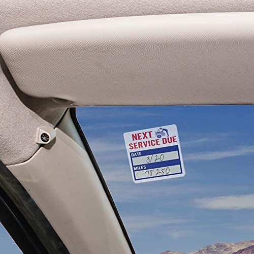 Case of 1000 Automotive Interior Protection 63-310-1000PK Service Reminder Oil Change Sticker,