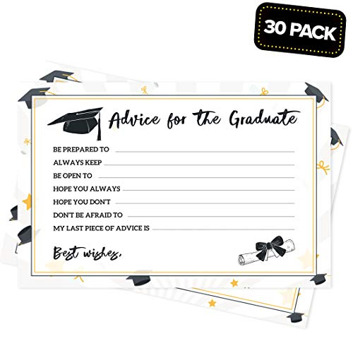 Joyousa Graduation Advice Cards Party Supplies 2019 - 30 Pack - Favors, Graduate -