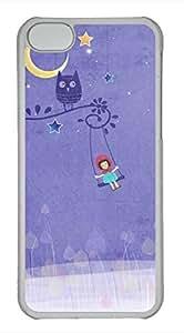 iPhone 5c case, Cute Purple Swing%20- Girl iPhone 5c Cover, iPhone 5c Cases, Hard Clear iPhone 5c Covers
