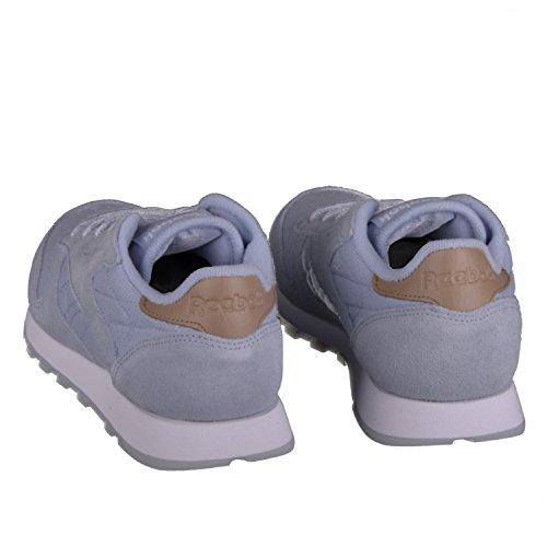 Reebok Damen Schuhe / Sneaker Klassieke Lederen-zee Gedragen Grau (gevel Grijs / Wit)