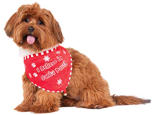 Rubie's Santa Paws Bandana Pet Costume, Medium/Large,