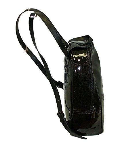borsa zaino MOSCHINO LOVE JC4306 backpack рюкзак NERO lucido
