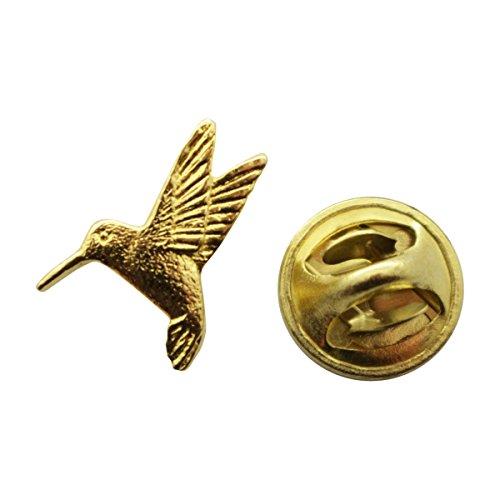 Hummingbird Mini Pin ~ 24K Gold ~ Miniature Lapel Pin ~ Sarah's Treats & Treasures