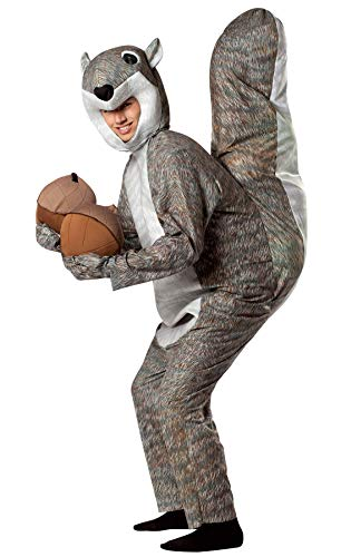 Rasta Imposta Squirrel Costume, Gray, One Size -