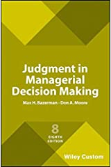 Judgment in Managerial Decision Making Paperback