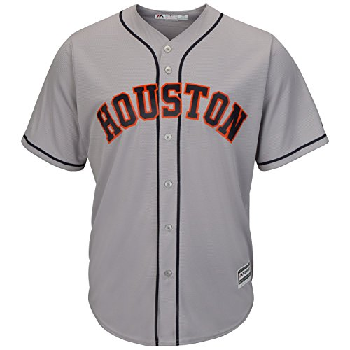 Majestic Athletic Houston Astros Road Grey Cool Base MLB Replica Jersey Baseball Trikot Tee T-Shirt ()