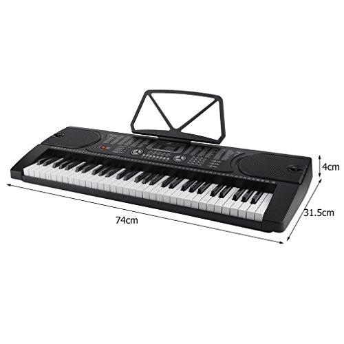 Digital Keyboard Aprendizaje de teclado 61 teclas Botones de pulsación Función de grabación de reproducción de función de AUX USB MIDI MP3 11 Canciones de ...