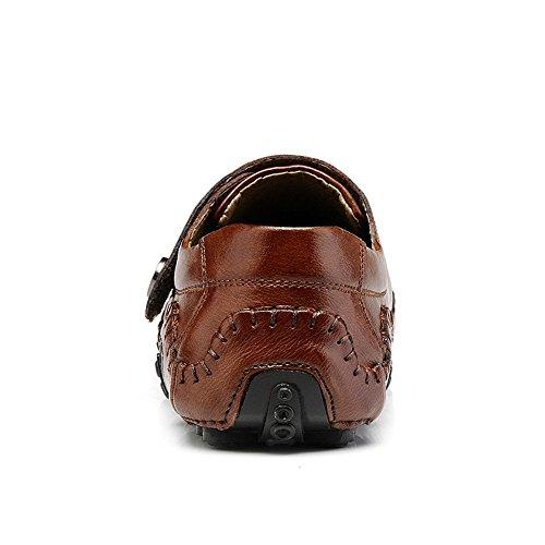 Leder Schuhe Bootsschuhe Loafers Braun Slipper Elegant Herren Flache UdOqTdS