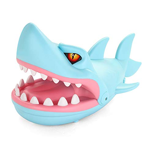 certainPL Shark Biting Finger Game Mouth Dental Toys Funny Party Home Game Party Game for Adults and Kids (Blue)