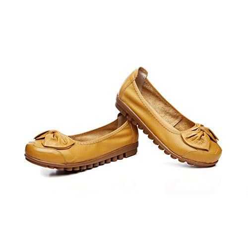 Bows Yellow Solid Ruched APL10781 Shoes BalaMasa Urethane Womens Pumps AwpBqnpW5U