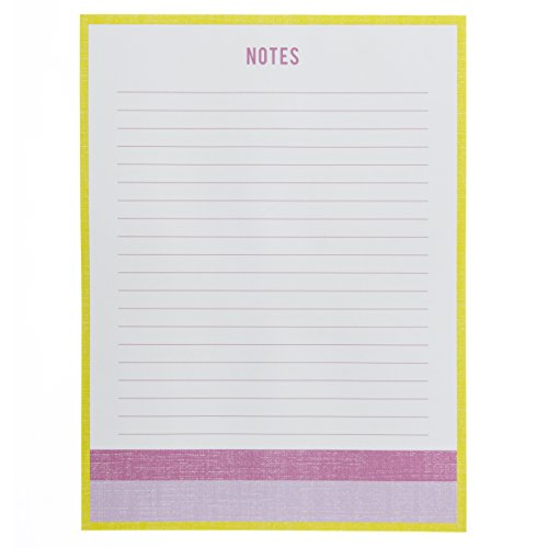 """Lavender Tears (Graphique Lavender and Neon Large Notepad, Puple and Neon Yellow """"Notes"""" Notepad with 150 Tear-Off Sheets, Perfect for Kitchen Counters, Nightstands, Desks, and More, 6"""