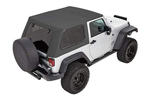 Bestop (5486270) Trektop Pro for Jeep Wrangler JK 2-Door in Granite Grey Twill
