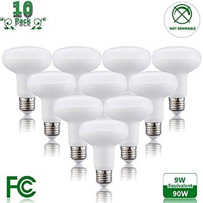 Not Dimmable 9 Watt LED BR25 Light Bulb(90 Watt Incandescent Bulb Equivalent), E26 Base Bulb 2700K Warm White 120 Volt 900 Lumens Bright LED Flood Bulb for Indoor Outdoor Lighting
