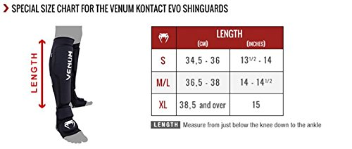 "Venum ""Kontact Evo"" Shin Guards, Small, Black"
