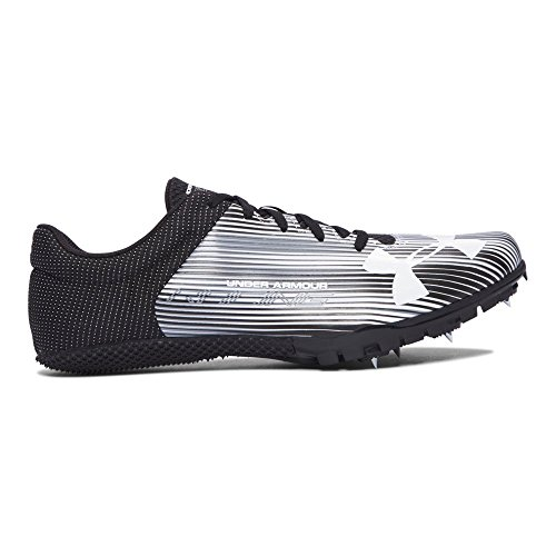 Under Armour Men's Kick Sprint Spike, White (100)/Black, 8