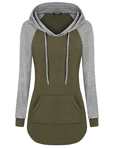 Green Hoody Sweatshirt - 2