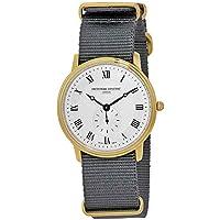 Frederique Constant Slimline Silver Dial Nylon Strap Men's Watch FC235M4S5GRY