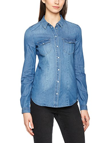 Chemise Only Medium Blue Femme Bleu Denim nzw0dZrwq
