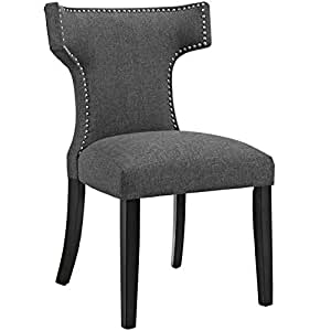 Modern Contemporary Urban Design Kitchen Room Dining Chair, Grey Gray, Fabric
