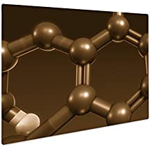 Ashley Giclee Thyroxine Hormone Structure, Wall Art Photo Print On Metal Panel, Sepia, 8x10, Floating Frame, AG6071071