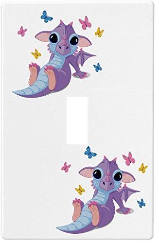 最初の  Baby Dragon Baby with Butterfliesウォールプレート装飾スイッチプレートカバーSingle T。 B00NR1LMPQ。 Dragon。 B00NR1LMPQ, アロマ生活:f681ee2a --- svecha37.ru