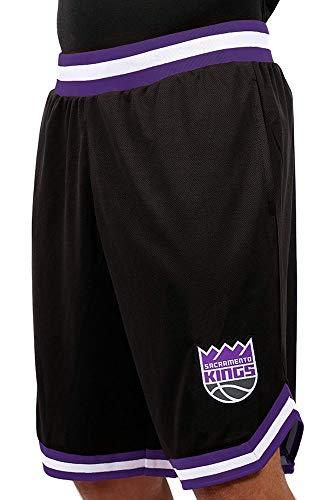 - Ultra Game NBA Sacramento Kings Men's Mesh Basketball Shorts Woven Active Basic, X-Large, Black