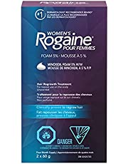 Rogaine Women's Rogaine 5% Minoxidil Foam - Once-a-day Hair Loss & Thinning Treatment, 4 Month Supply