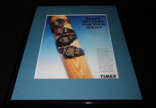 1992-timex-watches-baseball-11x14-framed-original-vintage-advertisement