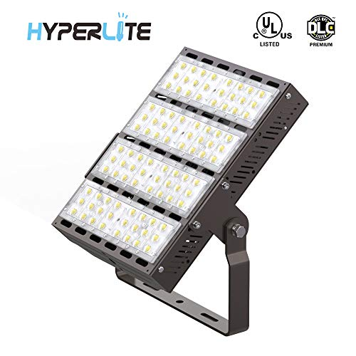 HYPERLITE 200W LED Outdoor Flood Light UL/DLC Premium Approved 26,000LM 130lm/w 5000K Type 3 Distribution AC 100-277V Input with U-Bracket Mounting for Factory Loading Docks Doorways ()