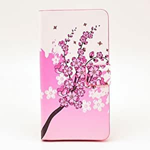 Chimonanthus Pattern PU Leather Case with Magnetic Snap