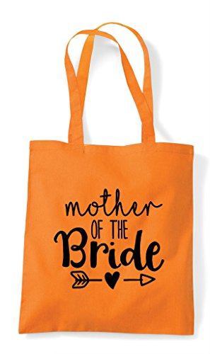 Arrow Statement Bride Heart The Of Orange Wedding Shopper Bag Mother Tote CPHFqw7