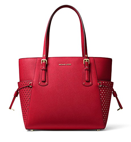 MICHAEL Michael Kors Voyager East West Signature Tote (Bright Red) by Michael Kors