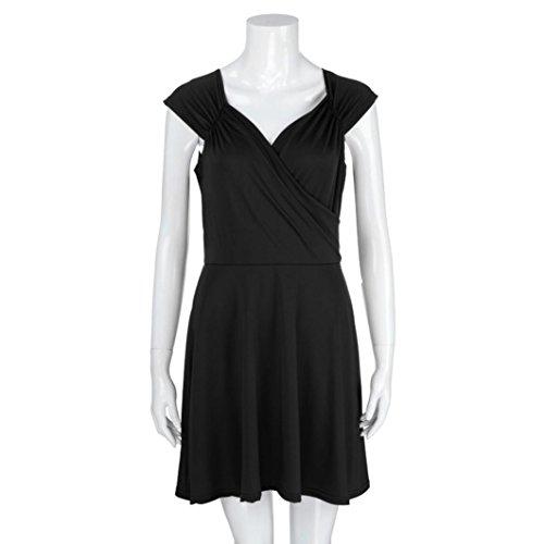 de ❤️ con Cuello de de para Vestido sin Noche y Mujeres V Vestido Absolute Fiesta Negro Fiesta Mangas Vestido en RrrfqwxvY