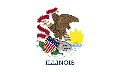 Illinois Lawn Guide - magFlags XXXL Flag Illinois | Landscape Flag | 6m² | 64sqft | 200x300cm | 6x10ft - 100% Made in Germany - Long Lasting Outdoor Flag
