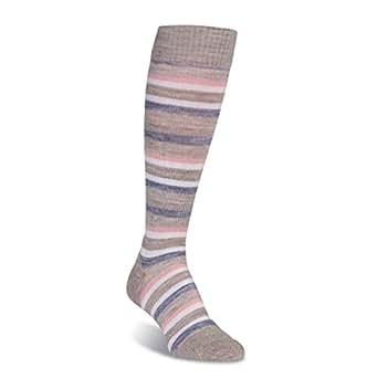 FITS Women's Medium Stripe Stone/Rose Dawn Casual Knee High Women SM (Women's Shoe 5-7)