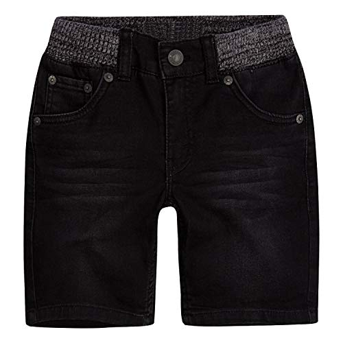 Boy Cut Shorts - Levi's Boys' Little Slim Fit Soft Knit Shorts, Black Storm, 7