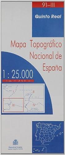 Descargar pdf de google books online Mapa quinto real 91-III 1:25000 en español PDF ePub 8498101042