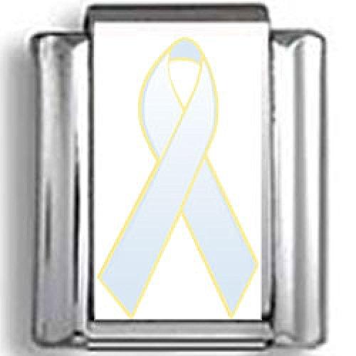 (Light Blue Awareness Ribbon Photo Italian)