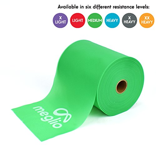- Meglio Latex Free Resistance Band 25 & 50 Yard Roll - Elastic Bands Latex Free for Physical Therapy, Strength Training, Pilates, Yoga, Home Workouts & Rehabilitation