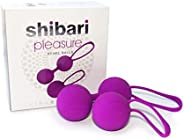 Shibari Pleasure Kegel Exercise Kit, Dual Weighted, High Grade Silicone, for Bladder Control and Pelvic Floor Exercises