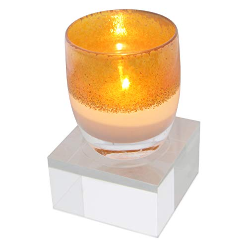 Allume Votive Tealight Candle Holder - Elegant Solid Square Table Centerpieces Candleholder for Wedding, Home Decor, Ceremony, Anniversary, Home & Kitchen, Single Well