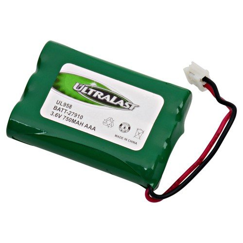 Sanyo GES-PC3F03 Cordless Phone Battery Ni-MH 3 AAA w/JST, 3.6 Volt, 700 mAh - Ultra Hi-Capacity - Replacement for GE TL96158, Unident BT-909, BT-1004, Sanyo GESPC3F03 Rechargeable Battery
