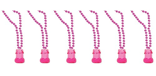 Beistle 54634 6 Pieces Necklaces - Beads with Willie 1 oz Shot Glass, 33